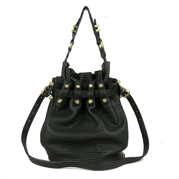Alexander Wang Diego Buckle Shoulder Bag Black