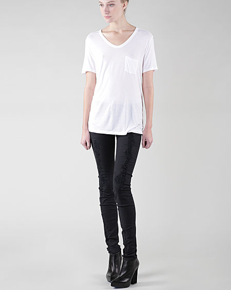 Alexander Wang Classic T-Shirt with Pocket (White)