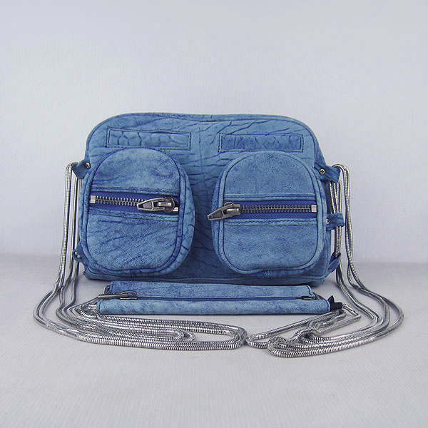 Alexander Wang Brenda Zip Chain Bag Blue