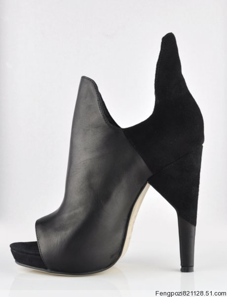 Alexander Wang Devon Open Toe Sude Booties Black