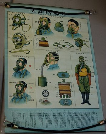 Asian Gas Mask Poster