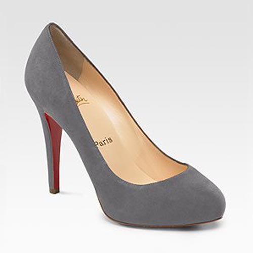 Christian Louboutin Lambskin Leather ROLANDO Suede Pumps