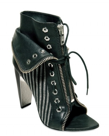 Alexander Wang Freja Laced Zip Boot Stiletto stripe
