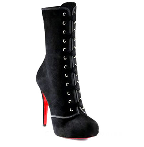 Christian Louboutin Lace-Up Ankle Boots black