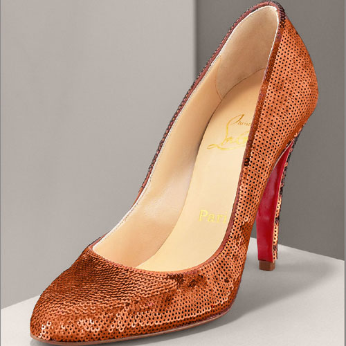 Christian Louboutin Decollete paillette pumps