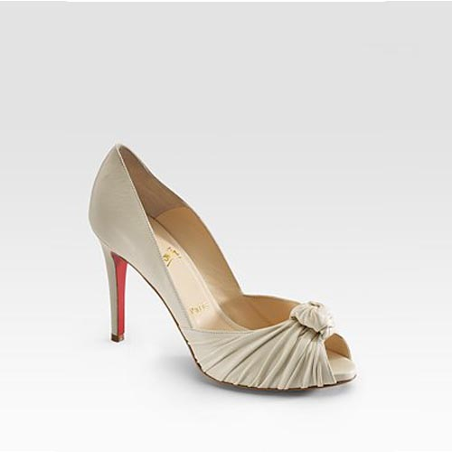 Christian Louboutin Knotted Leather Pumps